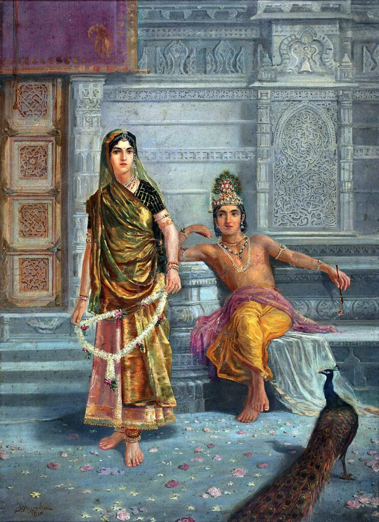 radha krishna beauty attractive